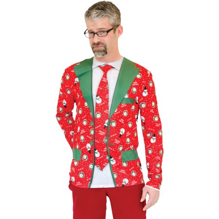Ugly Christmas Suit Tie Adult Halloween Costume