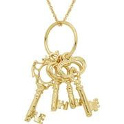 18kt Gold-Tone Keys Pendant, 18