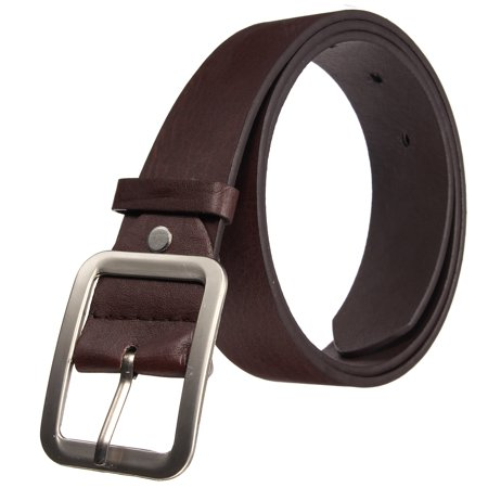 Casual Leather Waistband Pin Metal Buckle Belt Waist Strap Belts For Man (Light Brown Leather Belt Strap)