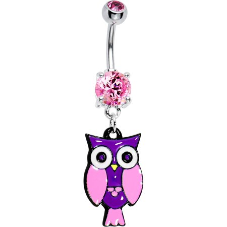 Belly Perch (Rose Double Perched Owl Dangle Belly)