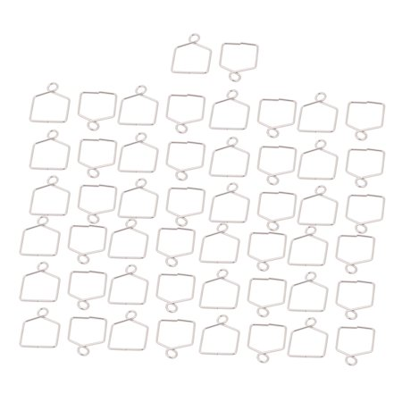 Unique Bargains 50 Pcs 18mm Width Chandelier Connector Clip Chromium Tone for Fastening Crystal