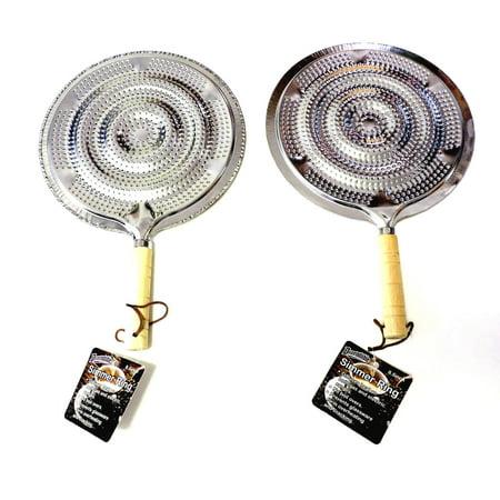 2 pk Flame Tamer Stovetop SIMMER Ring Aluminum HEAT Diffuser Gas Electric Range (Gas Flame Tamer)
