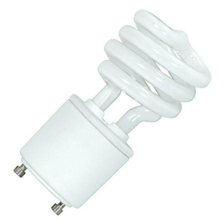 SATCO SPIRAL COMPACT FLUORESCENT LAMP , 13 WATT, 2700K, 82 CRI, GU24, 120 VOLT