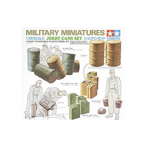 Tamiya 1//35 Scale Plastic Jerry Cans Battlefield Accessory Kit 35026 New In Box!