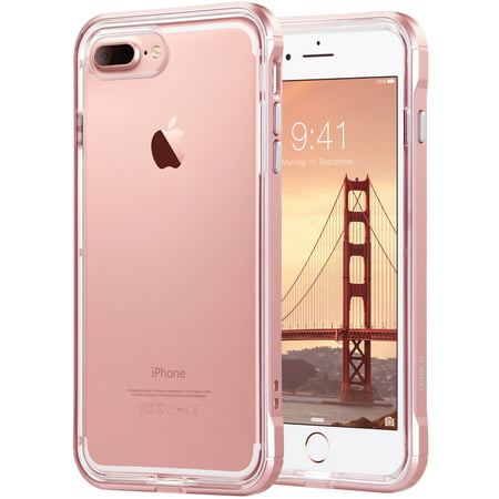 ULAK Reinforced Clear Hybrid Case for Apple iPhone 7 Plus, Rose (Best Case For Gold Iphone)