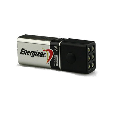 Blocklite 6 LED Mini Flashlight w/Energizer 9 Volt Battery, Surprisingly Bright - Bulk Mini Flashlights