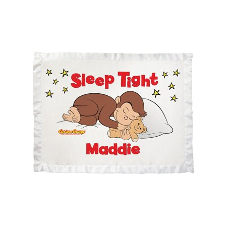 Personalized Curious George Sleep Tight Ultra Soft Baby Blanket ()