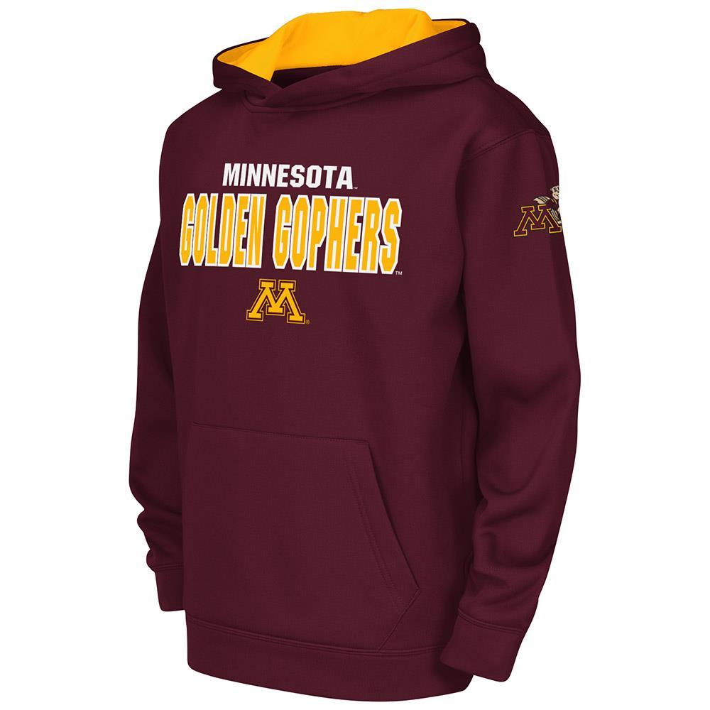 Kids NCAA Minnesota Golden Gophers Poly Pull-over Hoodie