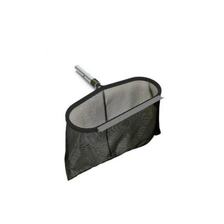 Poolmaster DLX Pro Aluminum Pool and Spa Durable Extendable Leaf Rake, Black