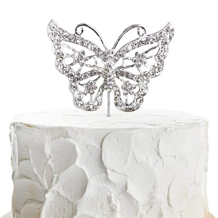 JennyGems Butterfly Cake Topper - Wedding Cake and Birthday Cake Party Topper - Butterfly Theme - Photo Prop](Casino Theme Wedding)