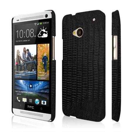 Croc Leather (HTC One M7 Leather Case, EMPIRE KLIX Slim-Fit Hard Case for HTC One M7 - Black Leather Croc)