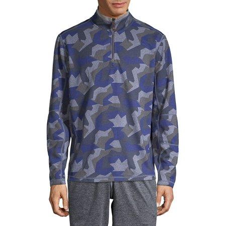 Camo-Print Half-Zip Jacket