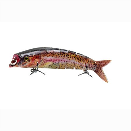 5.5in / 0.76oz Bionic Multi Jointed Hard Bait S Swimming Action Fishing Lure 8 Segment Sinking Fishing Lure VIB Bait Crankbait 3D Eyes Lifelike Artificial Fishing Lures Hook with Treble Hooks Tackle - image 2 of 7