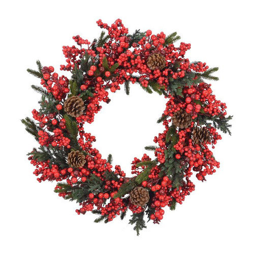 Fantastic Craft Berry and Pinecone Wreath