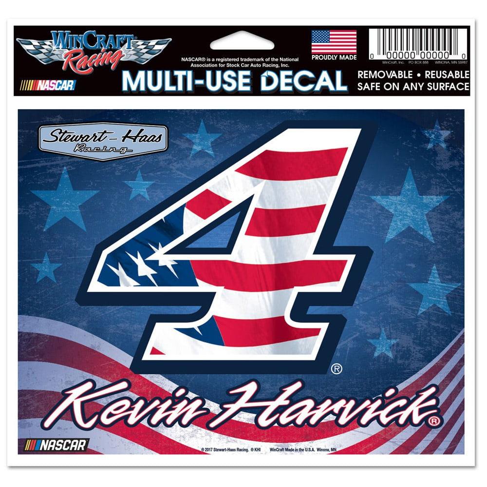 "Kevin Harvick WinCraft 4"" x 6"" Patriotic Multi-Use Decal - No Size"