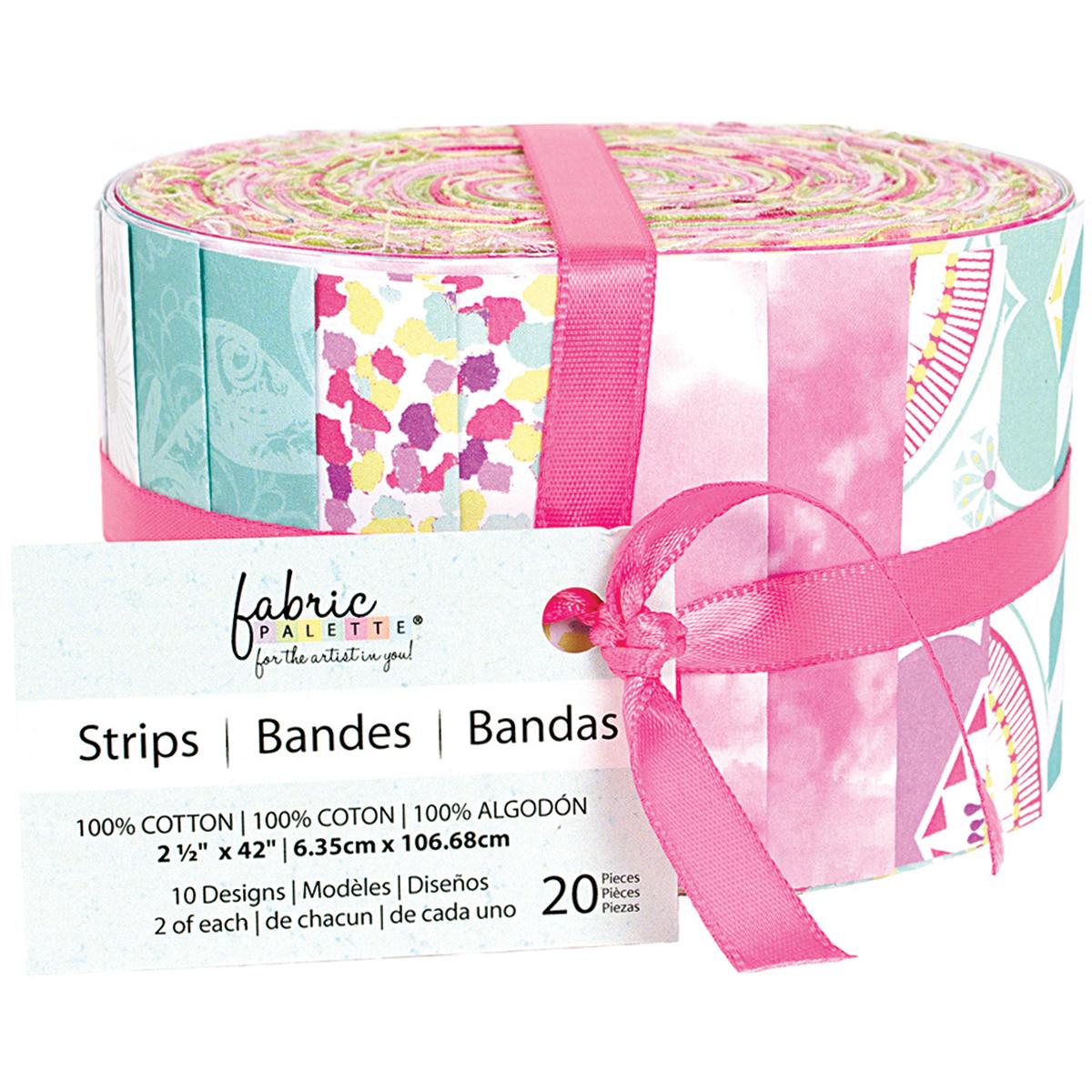 "Fabric Palette Jellies 2.5""X42"" 20/Pkg-Popsicle II"