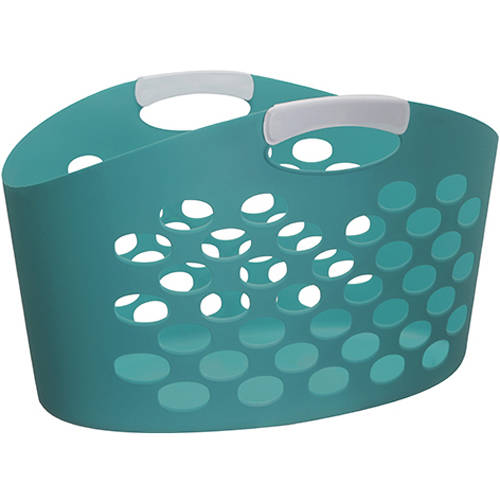 Mainstays Flex Oval 2 Bushel Hamper, Teal