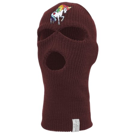 Rainbow Unicorn Ski Mask - White And Red Halloween Nails