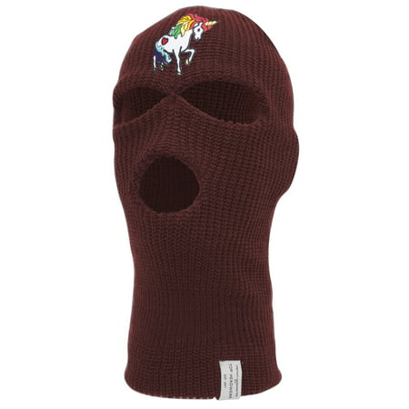 Rainbow Unicorn Ski Mask - Make Face White For Halloween