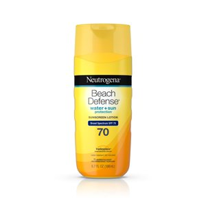 Neutrogena Beach Defense Body Sunscreen Lotion with SPF 70, 6.7 oz