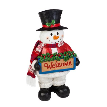 The Holiday Aisle Seasons Greetings Snowman Lighted Statuary (Sitting Snowman Figurines)