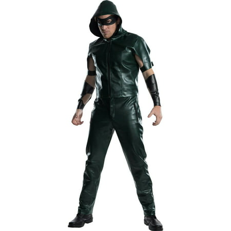 Mens Green Arrow Halloween Costume](Elvira Mistress Dark Halloween Costumes)