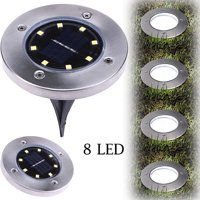 Outtop Solar Power Buried Light Wish 8LED Under Ground Lamp Outdoor Path Way Garden