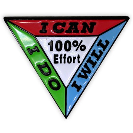 100% Effort Motivational Corporate Enamel Lapel Pin