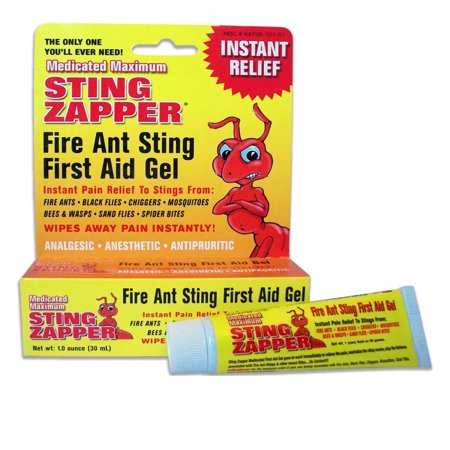1 Fire Ant Bite Treatment Sting Zapper Gel Cream Bee Bed Bugs Mosquito First (Best Treatment For Bee Sting Itching)