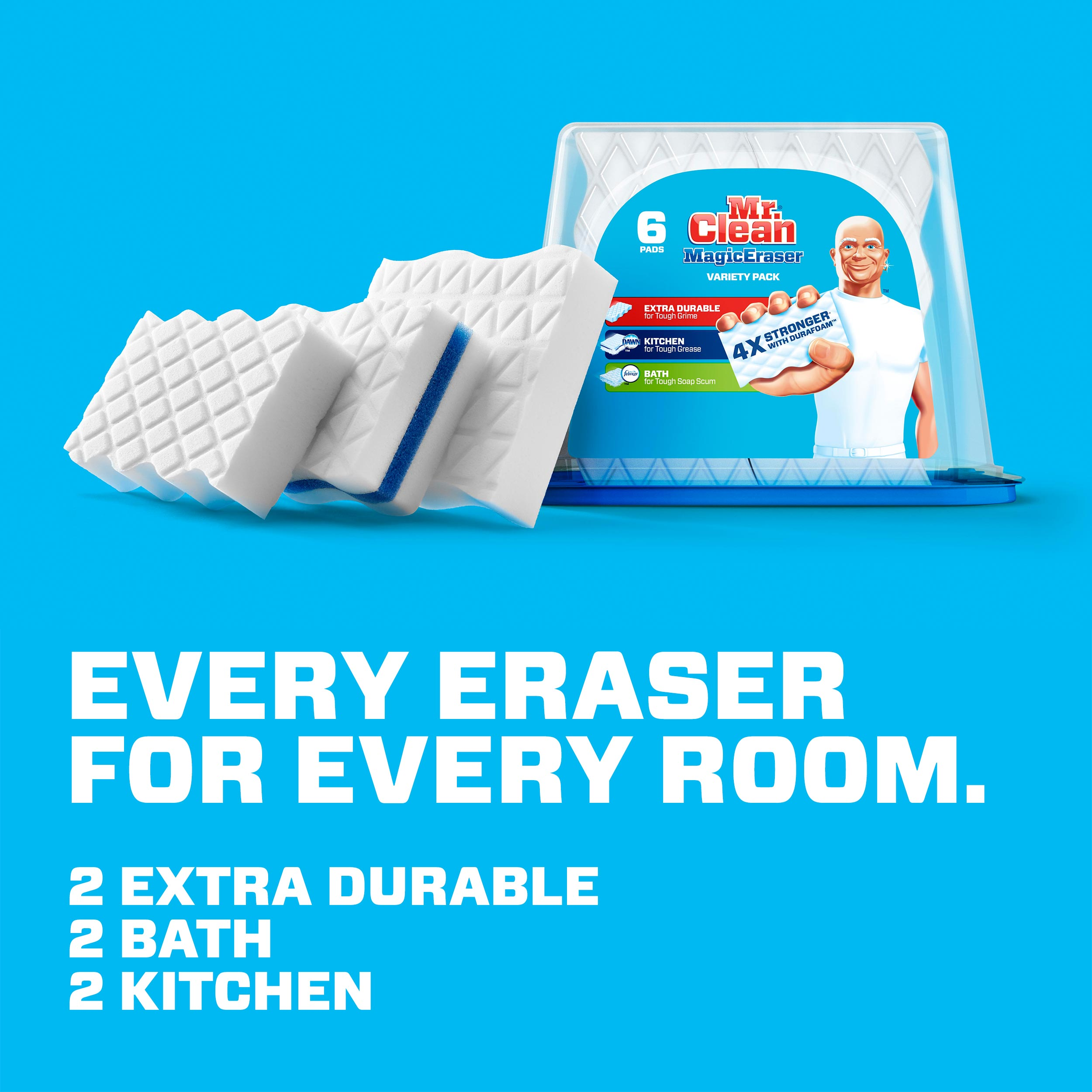 Mr Clean Magic Eraser Variety Pack Cleaning Pads With Durafoam 6
