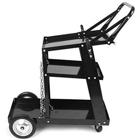 0ef2ebcdf9ac Plasma Cutter Welding Cart, 3-Tier Universal MIG TIG ARC Storage Machine  Welders with Handle for Tanks Gas Bottle