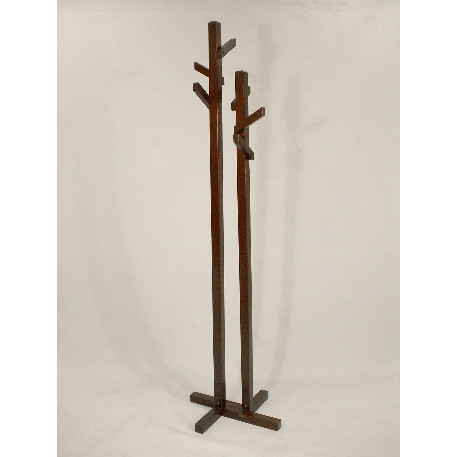 Double Tree Coat Rack - Dark Walnut