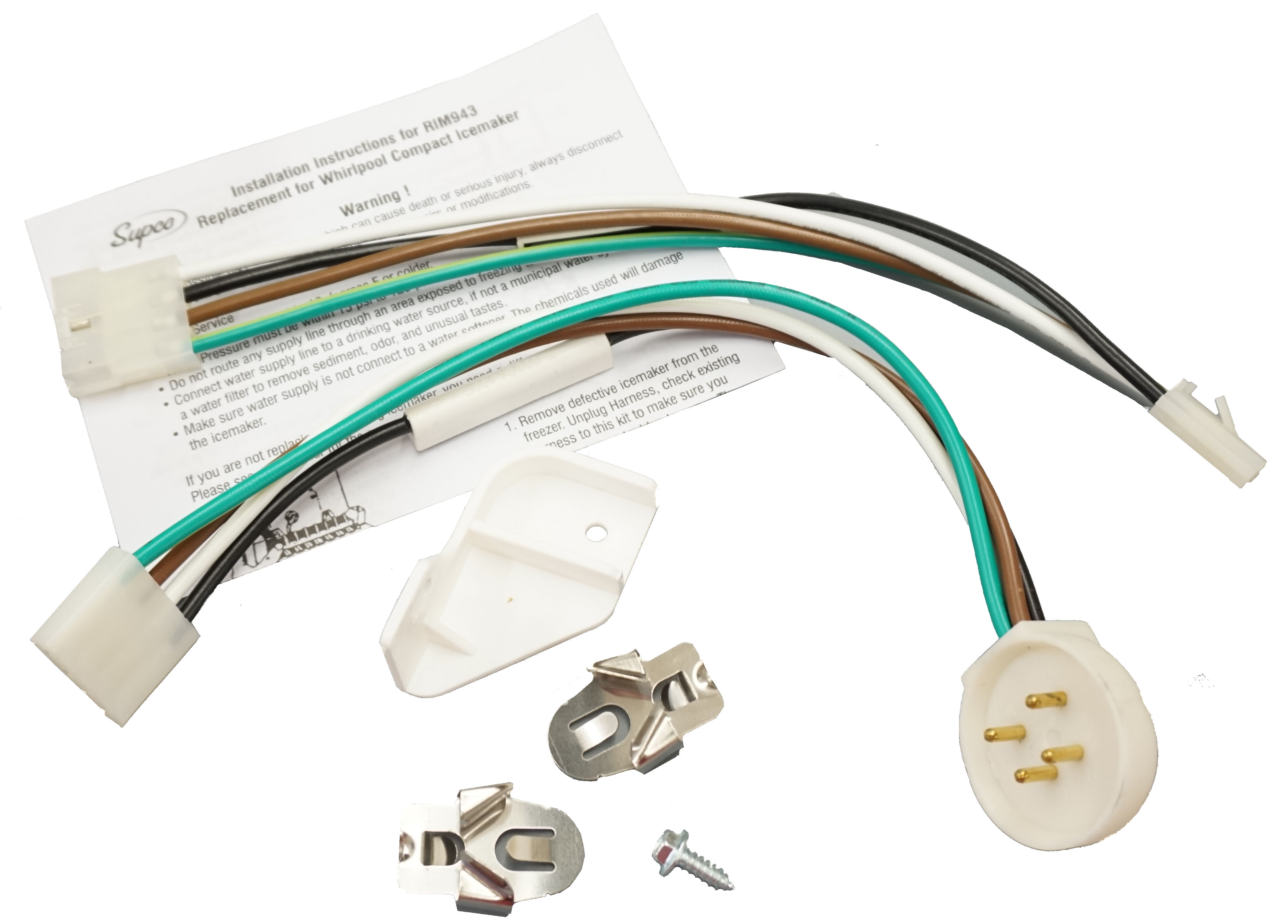 Supco Rim943 Replacement For Whirlpool 4317943 Ice Maker Wiring Harness