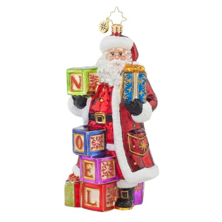 Christopher Radko Glass Simply Noel Santa Claus Christmas Ornament #1017618 - Retired Radko Halloween Ornaments