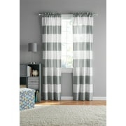 Your Zone Cabana Stripe Curtain Panel, Set of 2