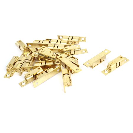 Furniture Cabinet Door Brass Double Ball Roller Catch Latch 50mm 2
