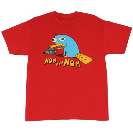 Phineas and Ferb (Disney Toon) Mens T-Shirt  - Nom Nom Weird Perry Image at (X-Large)](Phines And Ferb)