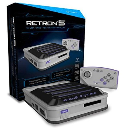 Gray Electronic (Hyperkin Retron 5 Retro Video Gaming System 5 In 1 Grey Electronic Games By Hyperkin Console Gray)