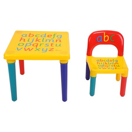 EECOO 2 PC Plastic Play Table & Chairs DIY Kids Set](Play Tables)