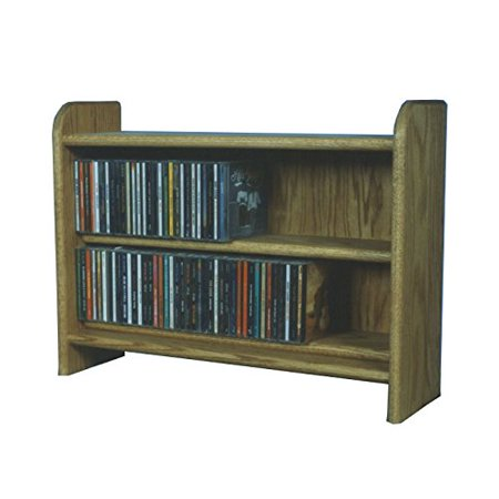 Wood Shed Solid Oak 2 Shelf CD Cabinet Honey Oak (Leather Wood Honey)