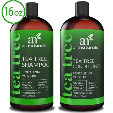 Tea Tree Oil Shampoo & Conditioner (2x16oz) Natural Formula for Deep (Best Tea Tree Shampoo And Conditioner)