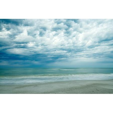 Burdick Print (Morning at the Beach Coast Coastal Ocean Photo Print Wall Art By Chuck Burdick)