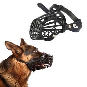 Adjustable Basket Mouth Muzzle Cover for Dog Training Bark Bite Chew Control SN Model:6 ()