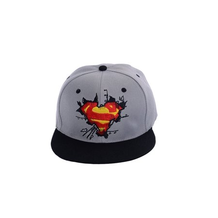 Snapback Hat Super Hero Superman Baseball Caps adjustable Hip Hop Hat (The Man With The Yellow Hat)