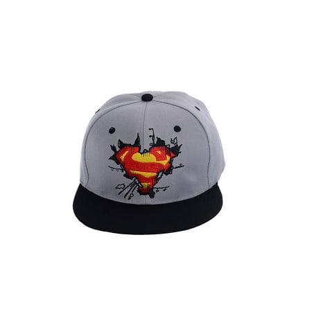 Snapback Hat Super Hero Superman Baseball Caps adjustable Hip Hop Hat (Different Types Of Hats)
