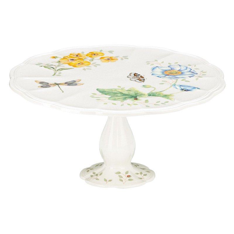 Lenox Butterfly Meadow Pedestal Cake Plate 10.