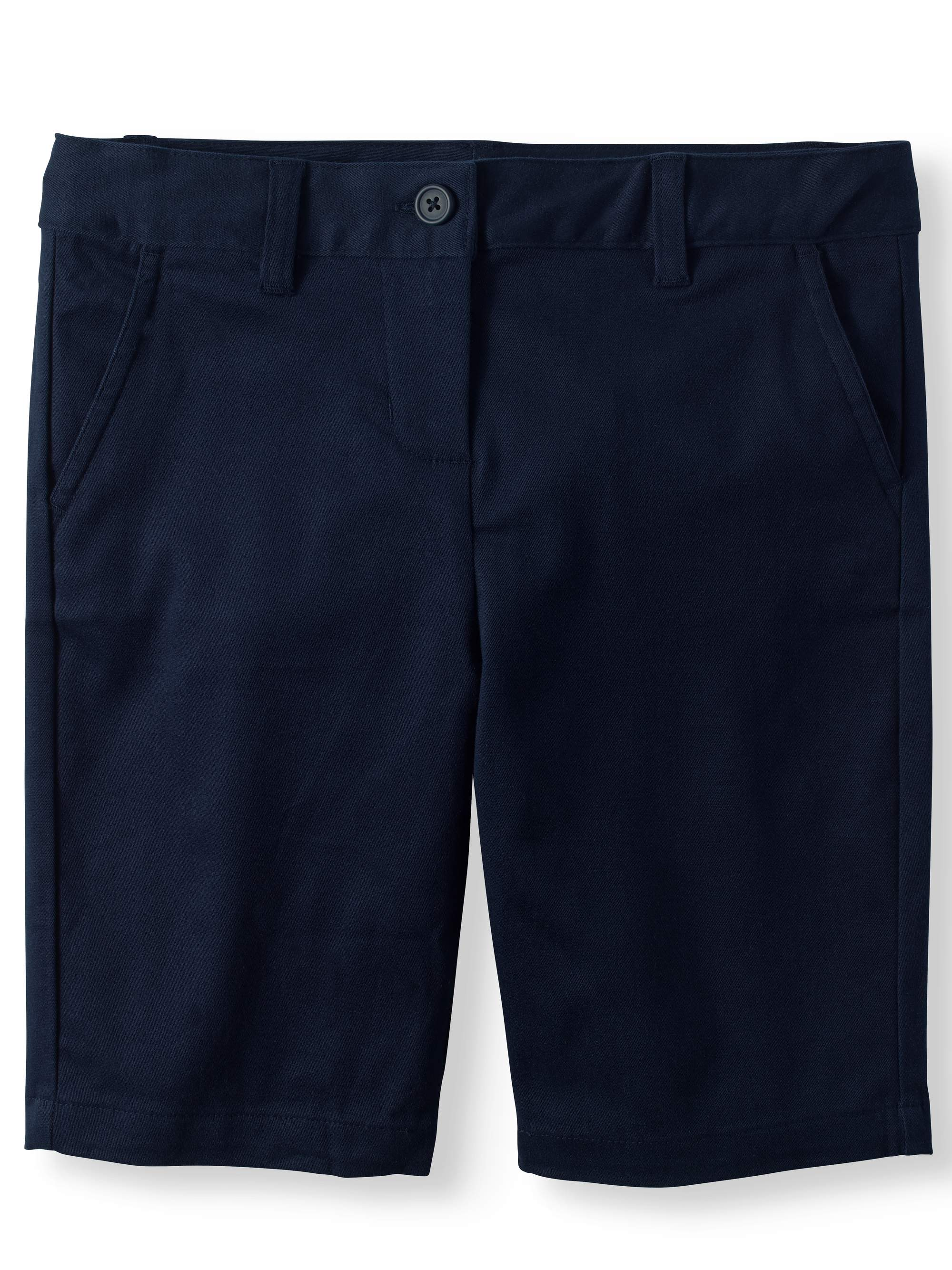 Girls Plus School Uniform Stretch Twill Bermuda Shorts