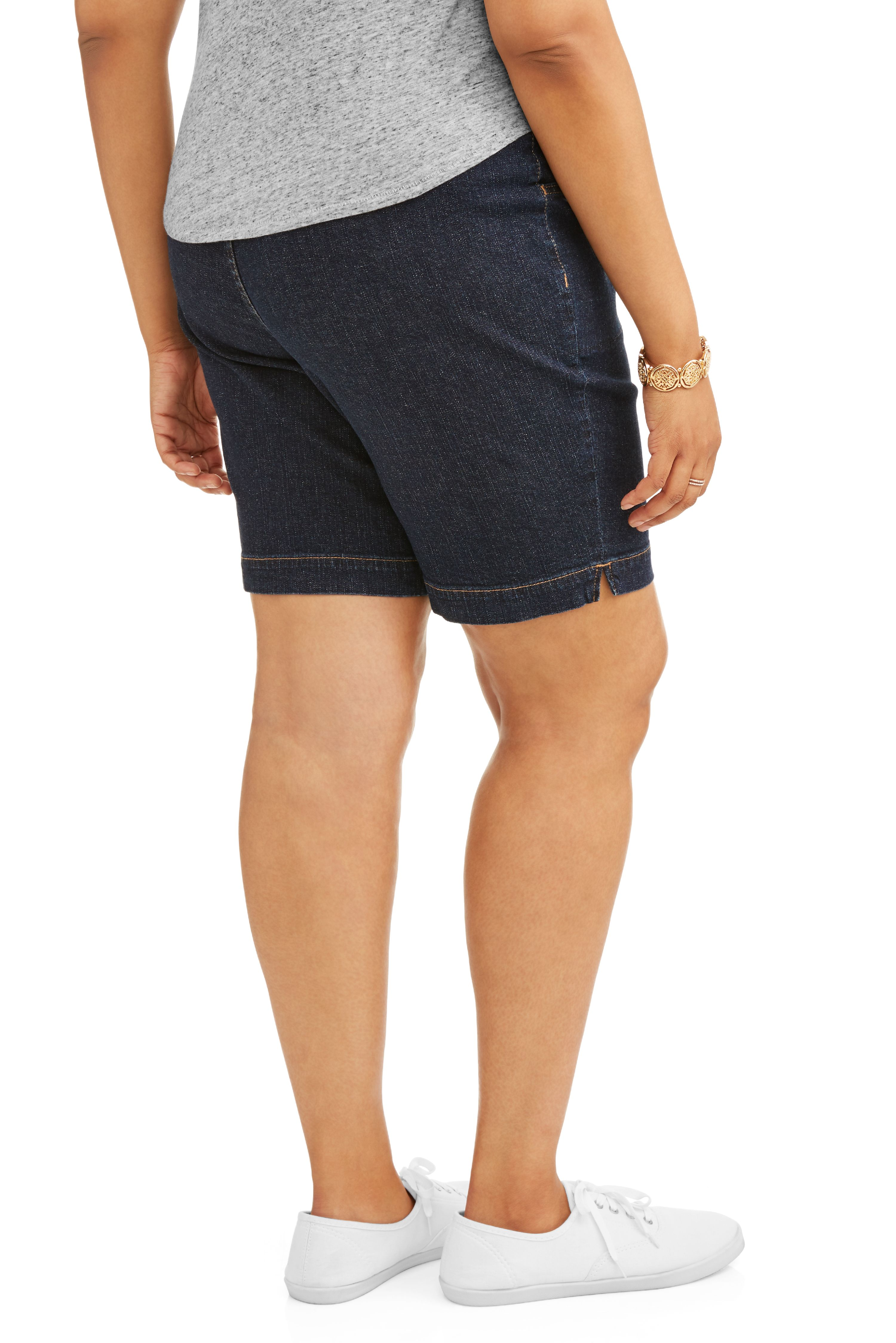 a52fbcad6286f Terra   Sky - Women s Plus 2 Pocket Pull On Short - Walmart.com