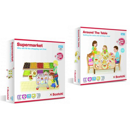 Scotchi Happy Kidz Children's Game Supermarket & Around the Table Game Set