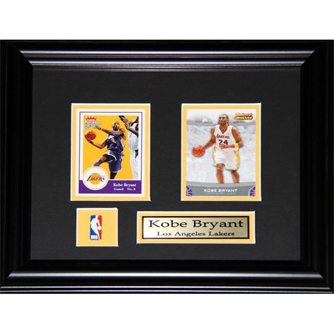 Midway Memorabilia Kobe Bryant Los Angeles Lakers 2 Card Frame